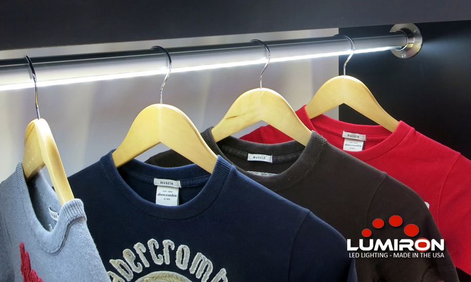 LUMIROD Is An LED Linear Closet Rod That Has Integrated An LED Lighting  System Inside The Extrusion To Directly Light Up The Items Hanging Below It.